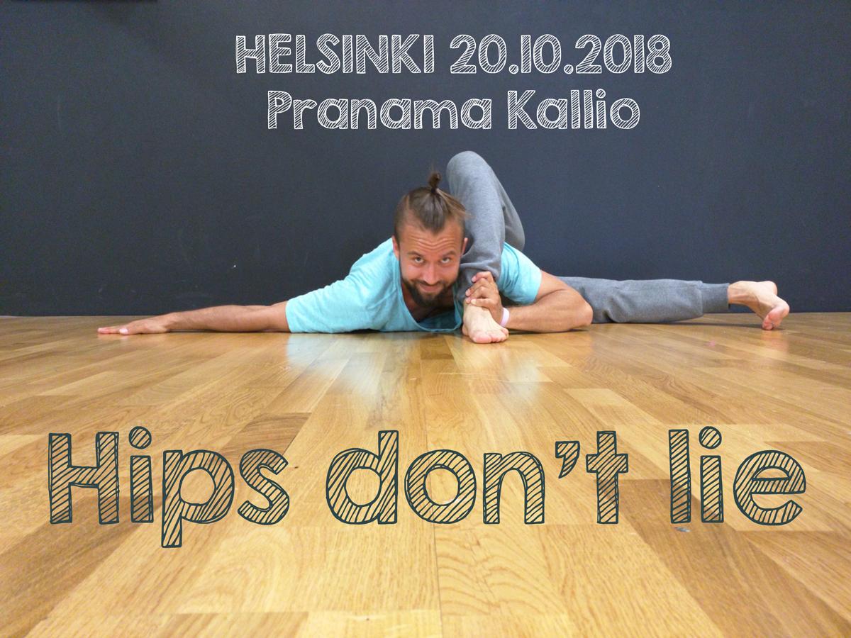 Helsinki: Lonkkien vapauttamiseen keskittyvä suosittu Lantio auki -kurssi järjestetään lauantaina 20.10.2018